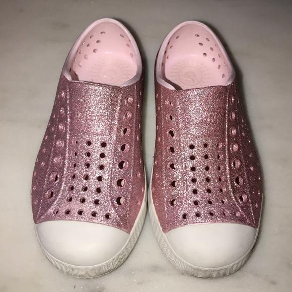 Pink Glitter Native Shoes | Poshmark